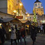 lubelski kiermasz bożonarodzeniowy nocą